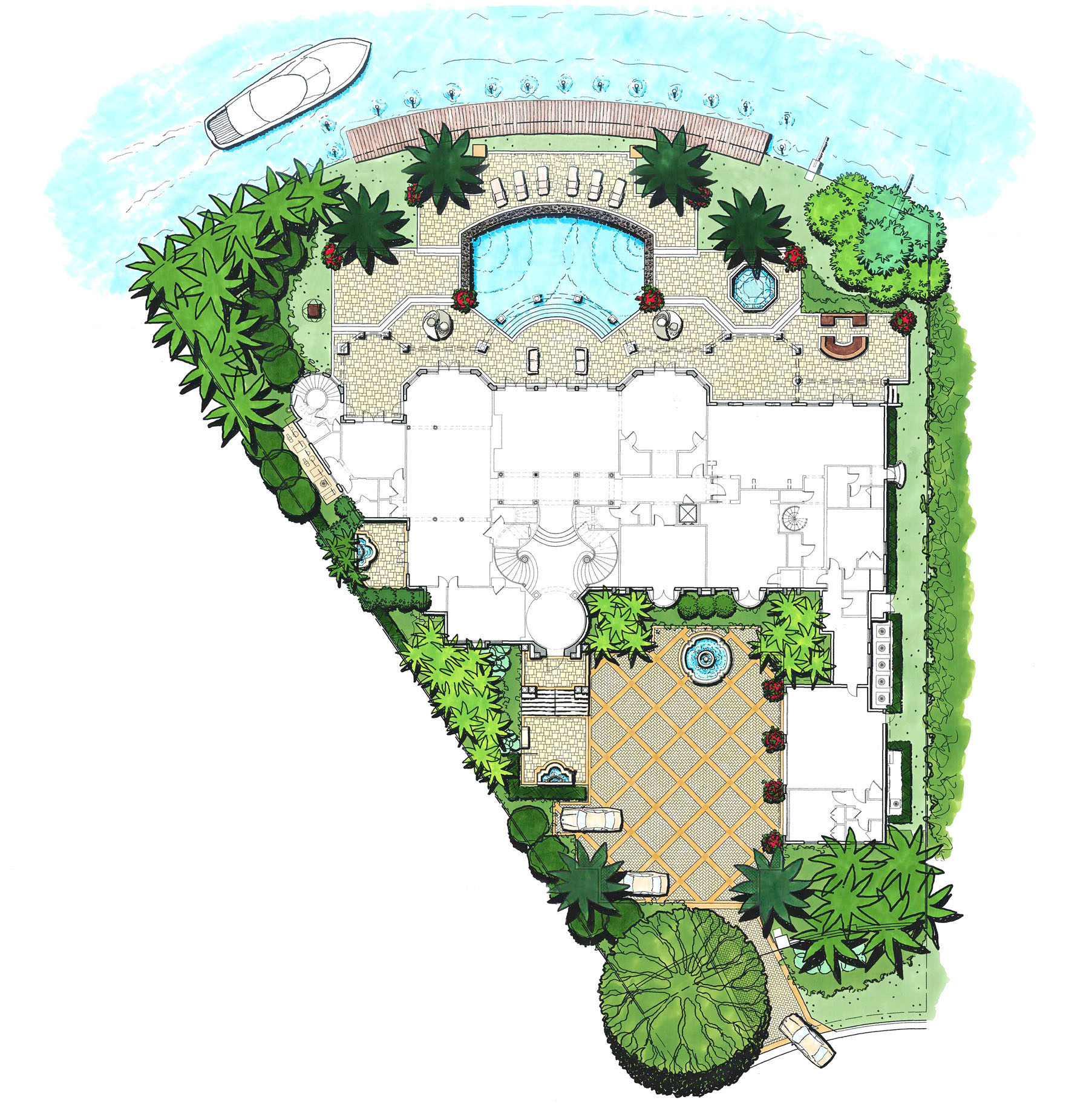 Villa magnolia landscape design workshop boca raton for House landscape plan