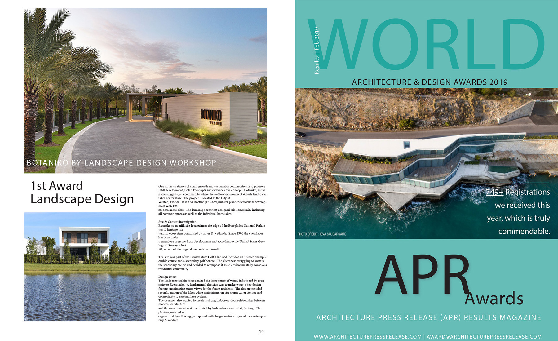2019 Design Awards Published Landscape Design Workshop Boca Raton